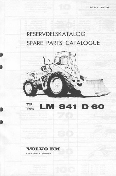 Volvo bm 841 instruktionsbok